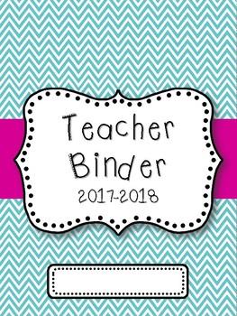 Teacher Binder Cover FREEBIE! {Teal, Pink & Gray}