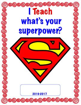 Teacher Binder Cover (Super hero theme)