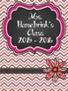 Teacher Binder Covers - Editable - Pink & Brown