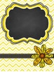 Teacher Binder Covers - Editable - Yellow