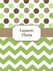 Teacher Binder Covers (Editable): Green and Brown Dots and