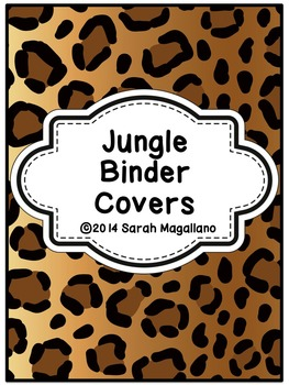 Teacher Binder Covers and Spines: Jungle Theme