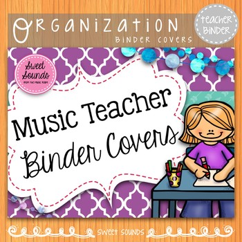 Teacher Binder Covers: Music {Purple}