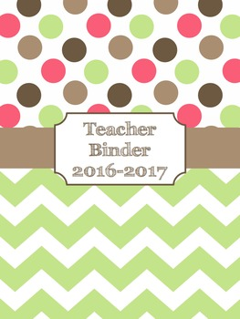 Teacher Binder Covers (Editable): Pink, Green, and Brown D