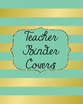 Teacher Binder Covers, dividers and Spines EDITABLE {Foil
