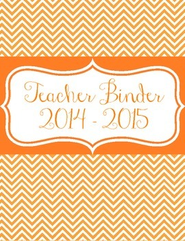 Teacher Binder Covers for 2014 - 2015