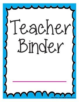 Teacher Binder Dividers