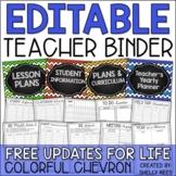 Teacher Binder: EDITABLE Yearly Planner, Gradebook, Logs,
