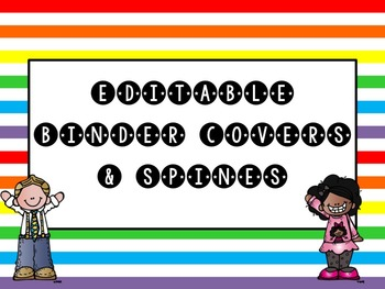 Teacher Binder Editable - MelonHeadz