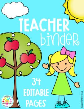 Teacher Binder {Editable Pages}