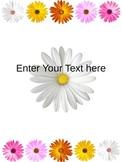 Teacher Binder Flowers editable pages