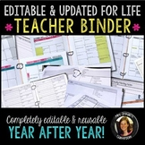 Teacher Binder Bundle Editable & Updated for Life