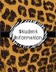 Teacher Binder - Leopard Themed Organization