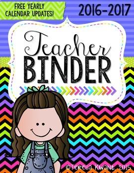 Teacher Binder {Neon}
