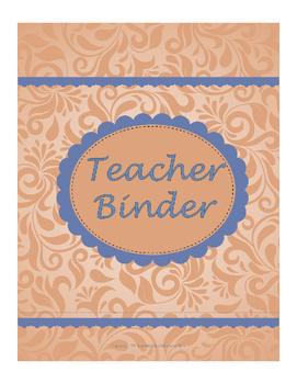 Teacher Binder for the classroom teacher - Orange and blue