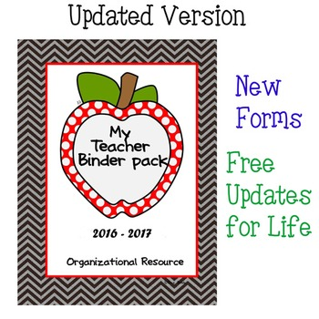 Teacher Binder Organizational Pack **UPDATED**
