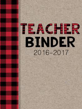 Teacher Binder- Plaid 2016-17