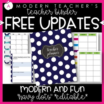 Teacher Binder and Planner Editable :: Free Updates (Class