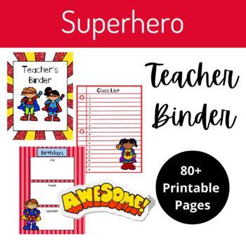 "Teacher Binder- ""Superhero Theme"""