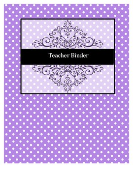 Editable Teacher Binder Tab Pages