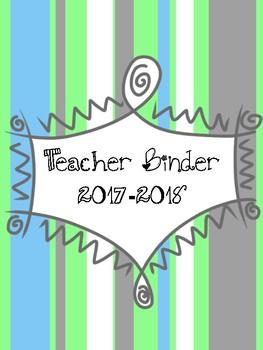 Teacher Binder Tabs - Blue and Green
