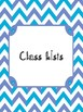 Teacher Binder Tabs - Turquoise and Periwinkle