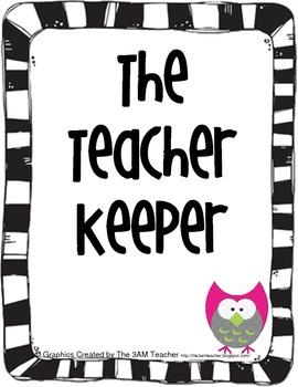 Teacher Binder and Helpful Files