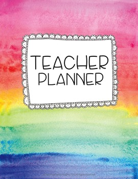 Teacher Binder and Planner Editable Free Updates Color My