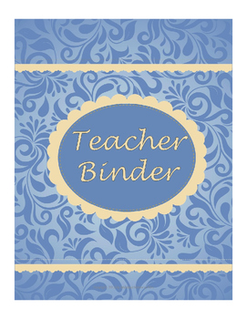 Teacher Binder - blue and beige
