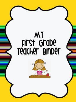 Teacher Binder for Organization - Yellow Stripes