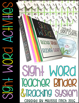 Teacher Binder for Sight Word Activity Organization- For S