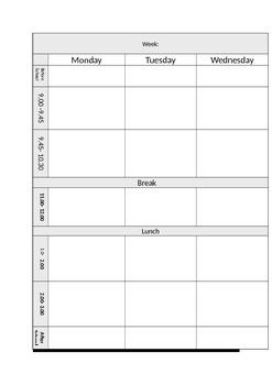 Teacher Binder planner pages/ lesson plans