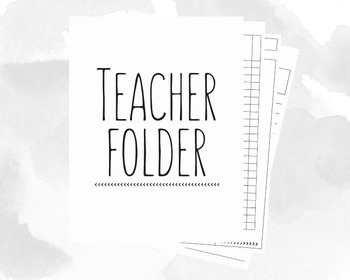 Teacher Binder with Covers