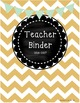 Teacher Binder with Sub Plans - Gold and Mint