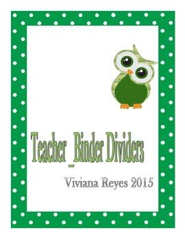 Teacher Blender Divider Owl