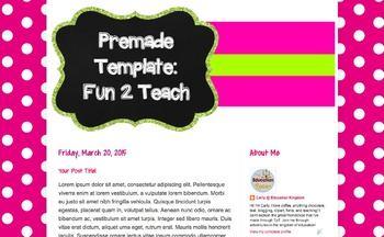 Teacher Blog Design: The Fun 2 Teach Template for Blogger