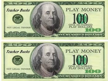 Teacher Bucks-- Mock Money Reward System