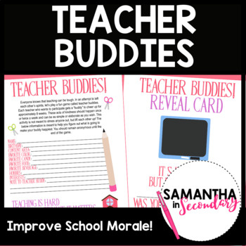 Teacher Buddies - Fun Morale Boosting Activity for Teachers!