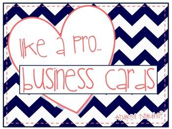 Teacher Business Cards for Parents