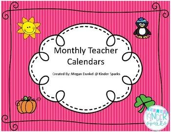 Teacher Calendar Set