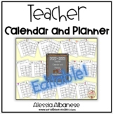 Teacher Calendar and Planner updated for 2015-2016 - EDITABLE!