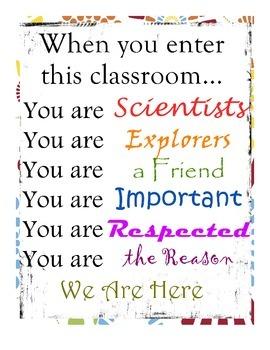 Teacher Classroom Poster Printable