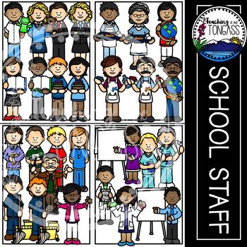 Teacher and School Staff Clipart MEGA Bundle