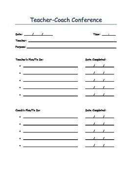 Teacher-Coach Conference Form