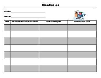 Teacher Consulting Log