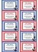 Teacher Contact Cards for Parents- Chevron Nautical Anchor