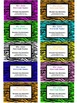 Teacher Contact Cards or Business Cards For Parents- Zebra