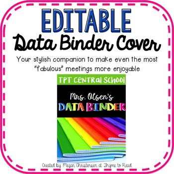 Teacher Data Binder (Cover)