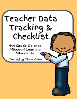 Teacher Data Tracking & Checklist Science Missouri Learnin