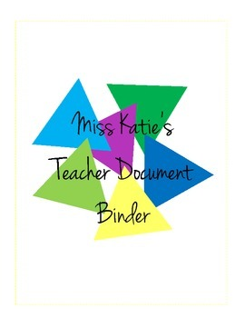 Teacher Document and Resource Binder